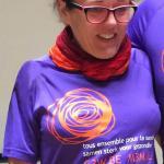 Cécile s'engage à transpirer en courant les 20KM de BXL pour VIVA SALUD