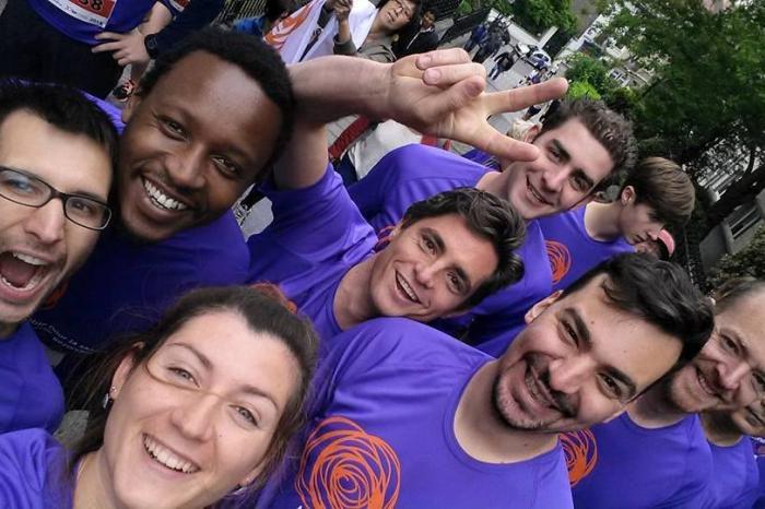 Yuna loopt de Gent Marathon