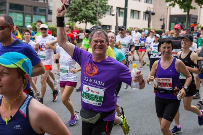 Luc zweet 20 km voor Viva Salud