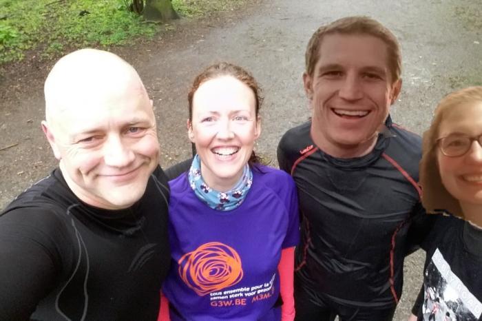 Gé, Mike, Nico et Fanny s'allient pour courir un marathon pour le droit à la santé!