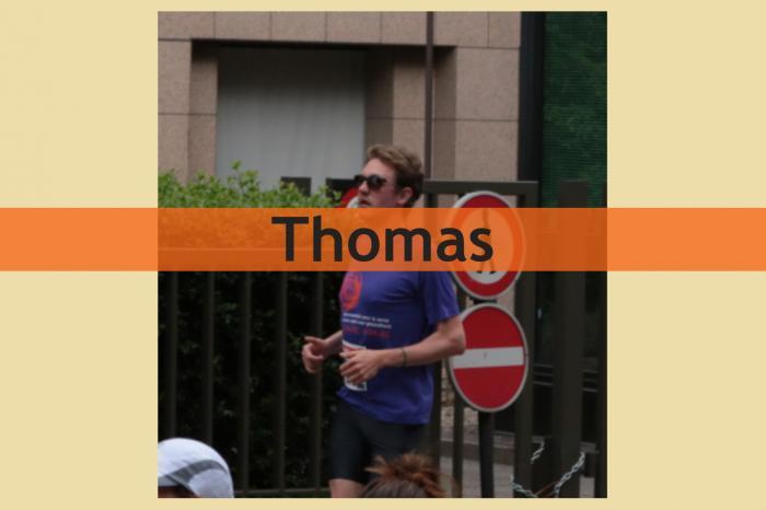 Thomas loopt voor Palestijnse jongeren